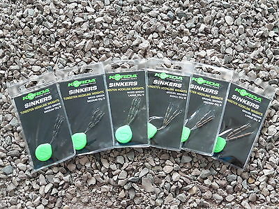 Korda Sinkers Tungsten in Weed Green oder Gravel Brown Blei NEU