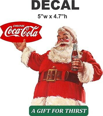 Vintage style Coke Sprite Boy Coca Cola Santa Claus Decal - Very Nice