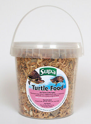 Supa Superior Mix Turtle & Terrapin Mixed Shrimp & Tubifex Food 1 Litre