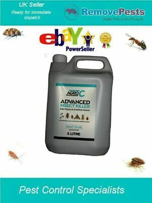 Flea killing poison spray treatment insecticide to wipe out fleas 5 Litres