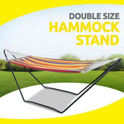Hammock Stand Double Size, Steel Frame Stand Only for Outdoor Garden Yard Swing
