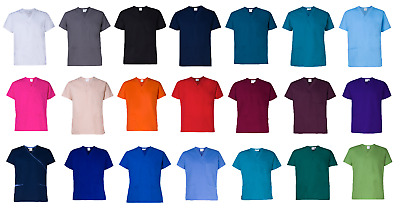 Medical Nursing Vet UNISEX Various Colours 3 Pocket Scrub Top - Shipped from MEL