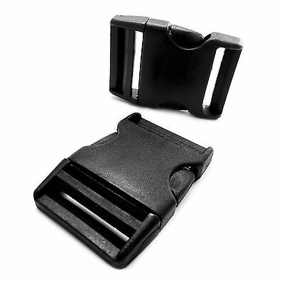 Plastic single adjusting side release buckle for 40 mm webbing, AHE