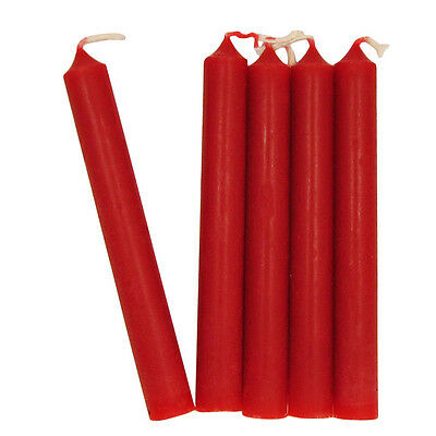 Dark Red Chime Candles - Lot of 20 - Wiccan Wicca Pagan Ritual Supplies