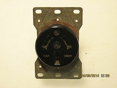 General Electric GE straight blade flush receptacle 50a 125/250v 10-50R