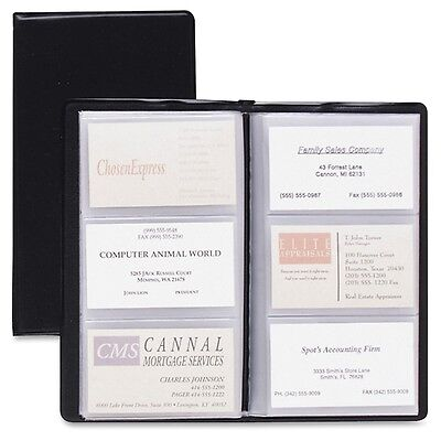 "Cardinal Sealed Vinyl 72 Card File - 72 Capacity - 7.75"" x 4.38"" - Black..."