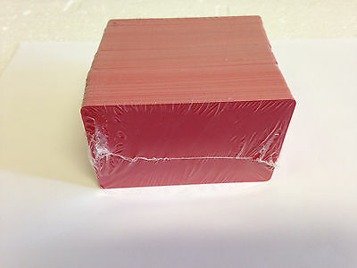 100 x CR80 .30 Mil Graphic Quality Red PVC Credit Card ID PRINTER Sealed