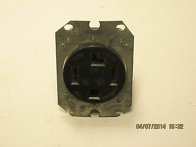 Pass & Seymour 3864 straight blade flush receptacle 30a 125/250v USED