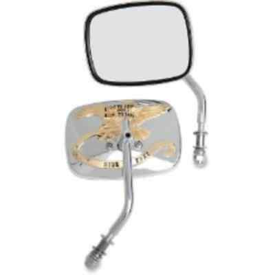 Drag Specialties Gold Live to Ride Custom Mirrors (0640-0476)