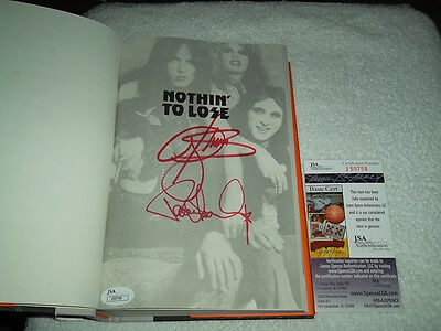 Gene Simmons & Paul Stanley Signed Book JSA Cert 1st ED Book Nothin To Lose KISS