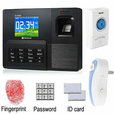 AC-030 Realand Biometric Fingerprint Attendance Time Clock With ID Card Reader