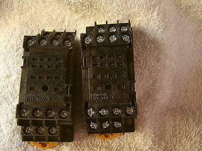 2 x Omron PYF14A-E RELAY SOCKETS, For Use With Various Series MY4H Relays