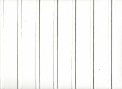 White Paintable Beadboard Textured Prepasted Wallpaper 497-59016