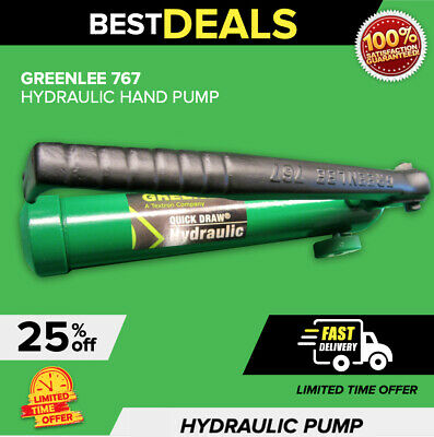 Greenlee Hydraulic Hand Pump, In Mint Condition,  Fast Shipping Guaranteed