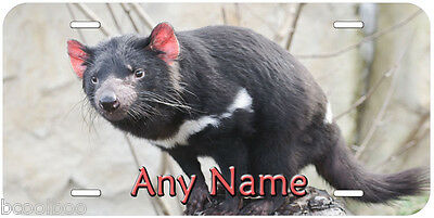 Tasmanian Devil Aluminum Personalized Novelty Car Tag License Plate P01