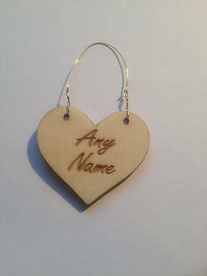 Little Heart Sign & Gift Tag(personalised)buy two get one free,choose your words