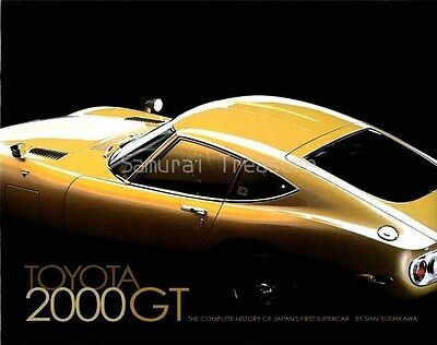 Collection of Toyota 2000GT photographs Hard cover Book.