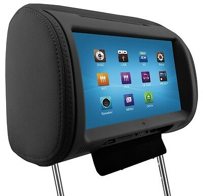 9'' Digital TFT LED Full Touch Screen Screen Pillow Headrest Car DVD Player
