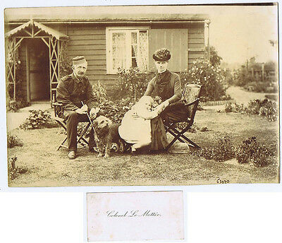 Colonel Osmund Francis LE MOTTEE & Family Antique Photograph & Card c1900