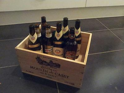1 X French Retro Chic Genuine Wooden Wine Crate- Recycling Box For Waste Paper