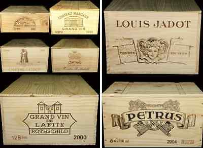 "1 X Genuine French ""6 Bottle"" Wooden Wine Crate / Box  / Planter Hamper Storage"