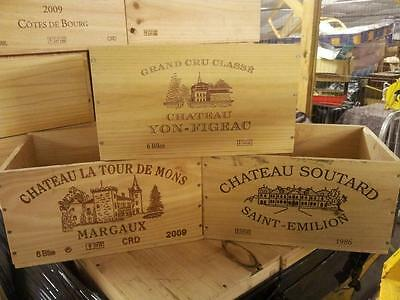 9 X Genuine French Wooden Wine Crate / Box  / Planter Hamper Drawers / Storage