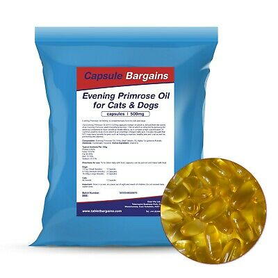 Tablet Bargains Evening Primrose Oil For Dogs 500mg - 60 Capsules