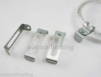"""3 x REPLACEMENT Halogen Oven Bulb CLIPS - fits 4.5"""" and 6"""" Diameter Bulbs Cooker"""