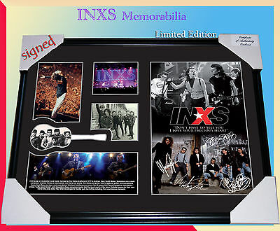 Inxs Rock Band Memorabilia Signed Framed, Limited Edition To 499