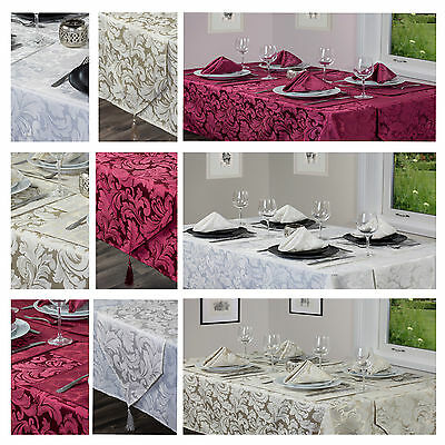 Cadiz Damask Tablecloths,Napkins, Runners And Placemats - Items Sold Separately