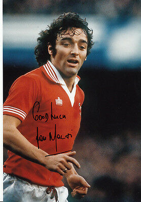 Manchester United Hand Signed Lou Macari Photo 12x8.