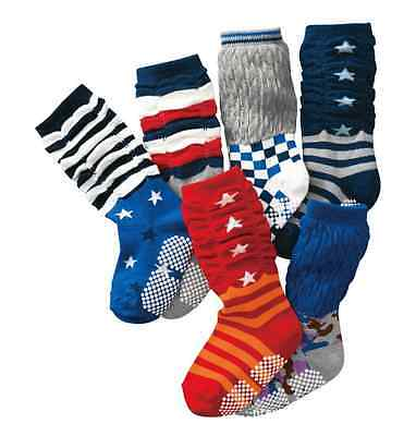 BULK... 3 pairs Baby Boys Knee High Assorted Socks w/ Gripper ** fits 6m-3 years