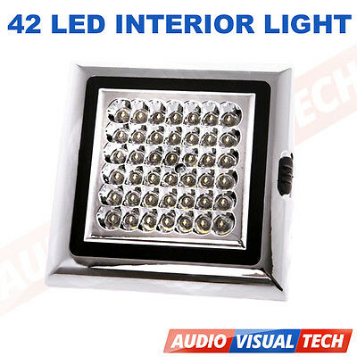 12 V Volt 42 Led Interior Ceiling Cabin Light Lamp For Caravan Boat Truck Car
