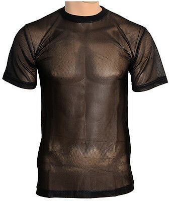New BLACK MESH T-Shirt - All Sizes Warm Hot Weather Breathable Military Army Top