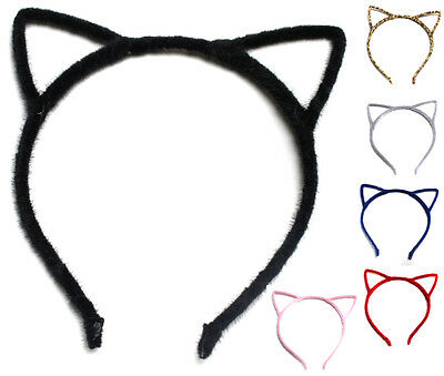 Alice Band Cat Ear Headband Fluffy Women Hair Accessories Design Party Felt Wire