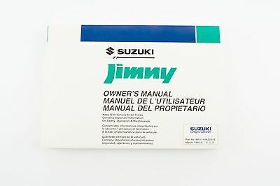 Genuine Suzuki Jimny SN HTOP Owners Manual 99011-81A20-012