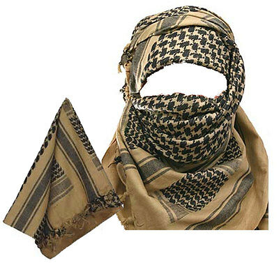MILITARY ARMY Sand and Black SHEMAGH SCARF ARAB/SAS/RETRO (Fully woven MTP Match