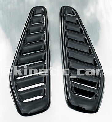 Fiesta RS turbo style ABS plastic bonnet vents*ford profile* universal
