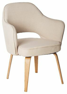 New Cafe Lounge BEIGE KIM TUB CHAIR Pub Seats Armchair Furniture Chairs Timber