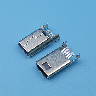 10Pcs Mini USB 5Pin Male SMT SMD Plug Soldering jack Connectors