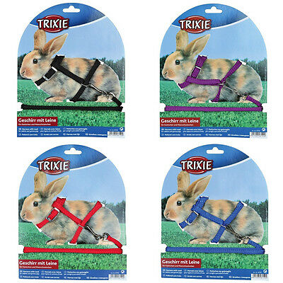 Rabbit Harness with Detachable Lead for Rabbits & Guinea Pigs Choose Colour 6150