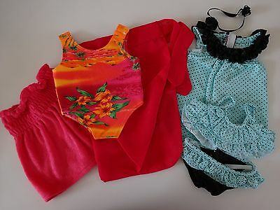 """NEW-DOLL CLOTHES_SWIMSUITS & DRESSES [7PC]-Lot #33B fit 18""""Doll such as AG Dolls"""