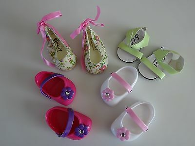 "NEW-DOLL SHOES_Clogs, Sandals, Espadrilles-Lot #34 fit 18""Doll such as AG Dolls"