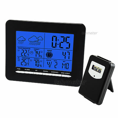 RCC Wireless Weather Station Clock Digital Thermometer Humidity Indoor Outdoor