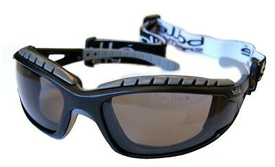 Bolle Tracker II Safety Glasses Goggles - Anti Mist & Scratch - Smoke TRACPSF