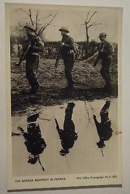 Cpa Carte Photo Gb Ww2 Anglais Bef 1939 Dunkerque 1940 Border Regiment In France