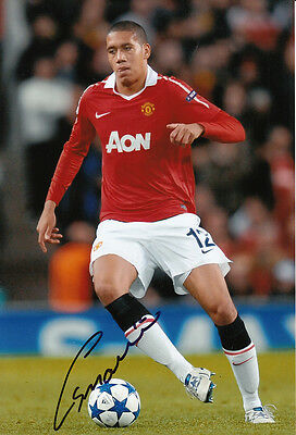 Manchester United Hand Signed Chris Smalling Photo 12x8.