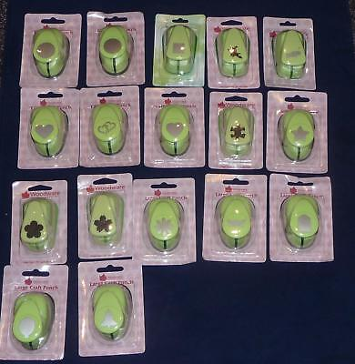 Woodware 1 inch 25mm craft punch various designs heart circle flower price each