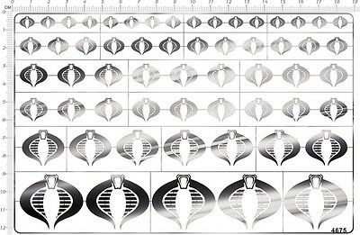 chrome(metal) decals Comics Cobra for different scales model kits (Silver) 4675