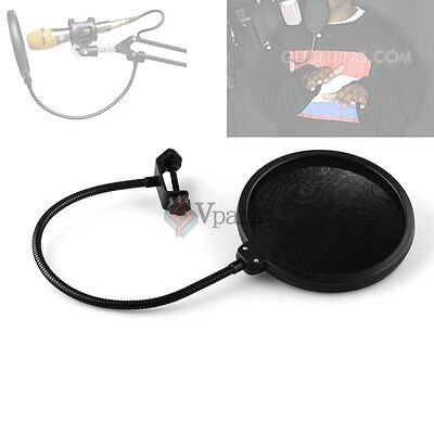 Double Layer Studio Microphone Wind Screen Pop Filter Mask Shield For Recording